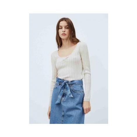 Pepe Jeans Pepe Jeans dámský béžový svetr AMANDA