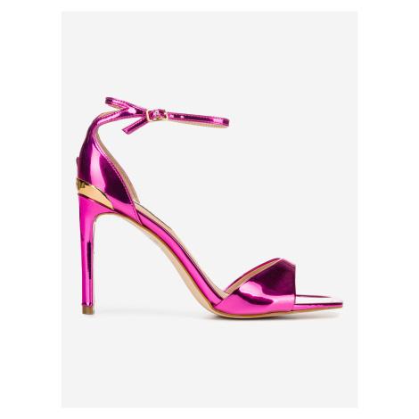 Boty na podpatku Guess Růžová