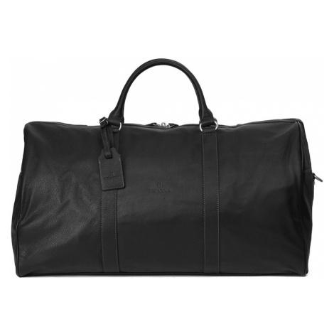 Pánská celokožená cestovní taška Hexagona Bolt - černá