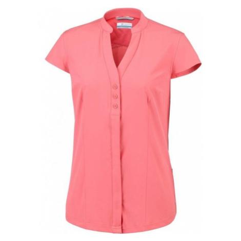 Columbia SATURDAY TRAIL STRETCH SS SHIRT růžová - Dámská košile s krátkým rukávem