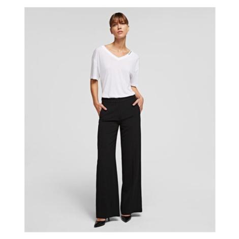 Kalhoty Karl Lagerfeld Tailored Pants - Černá