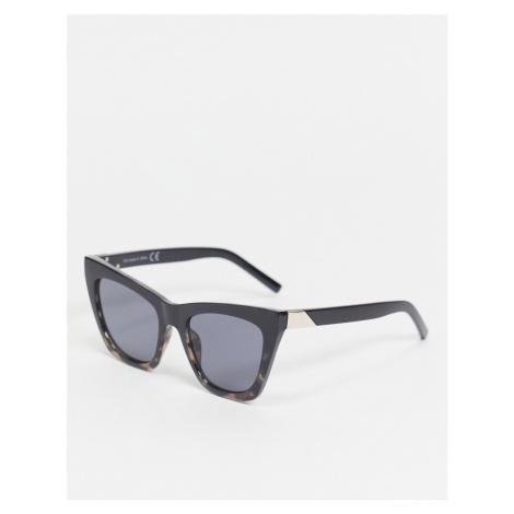 Topshop Black Oversize Cateye Sunglasses with black lense-Multi