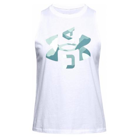 Dámské tílko Under Armour Logo Graphic Muscle Bílá / Zelená