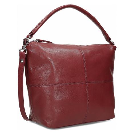 Červená dámská kožená Hobo kabelka Baťa