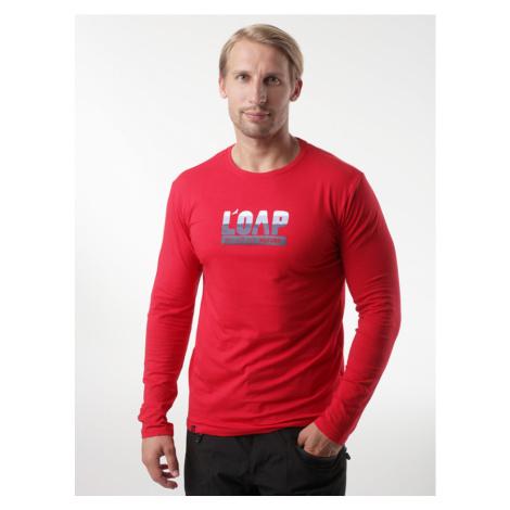 LOAP ALBI Pánské triko dlouhý rukáv CLM2069G57G Bar Cherry