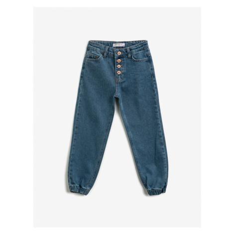Koton Girl's Medium Indigo Jeans