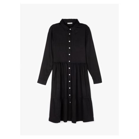 GATE Košilové šaty midi s volánem