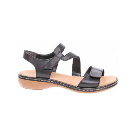 Rieker Dámské sandály 659C7-00 schwarz Černá