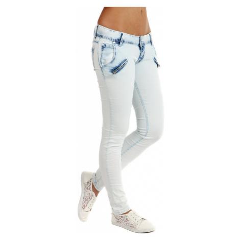 Dámské bílé úzké džíny