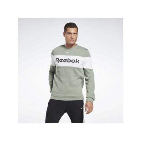 Reebok Sport Training Essentials Linear Logo Crew Sweatshirt Zelená