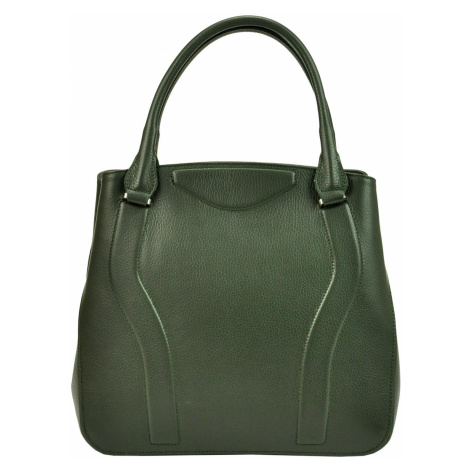 Kožená kufříková kabelka Luka 19-47 DOLLARO zelená