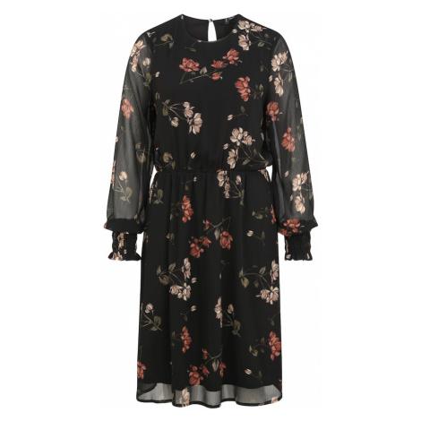 Vero Moda Tall Šaty 'SMILLA' černá / tmavě zelená / červená / světle růžová