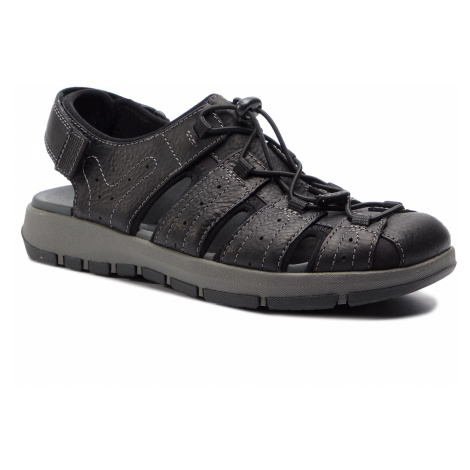 Sandály CLARKS - Brixby Cove 261338917 Black Leather