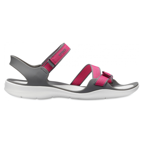 Crocs Swiftwater Webbing Sandal W Paradise Pink/Smoke W5