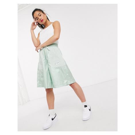 Nike Tonal Swoosh white crop Vest top