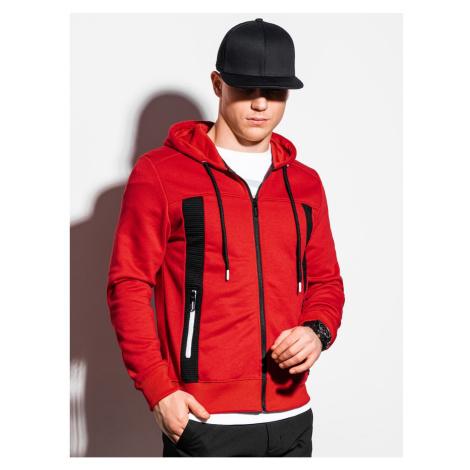 Ombre Clothing Men's zip-up sweatshirt B1073