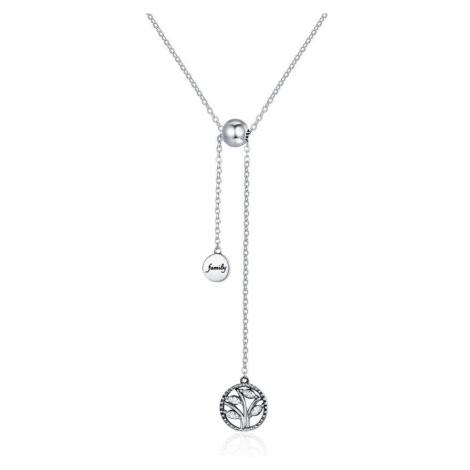 Linda's Jewelry Stříbrný náhrdelník se zirkony Family Tree INH037