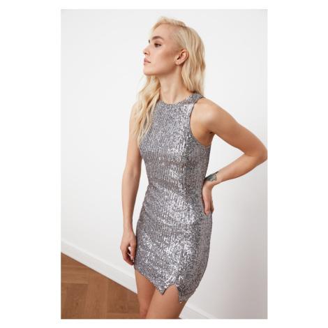 Trendyol Silver Sequin Dress
