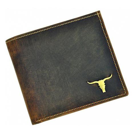 Hnědá pánská kožená peněženka v krabičce WILD Buffalo