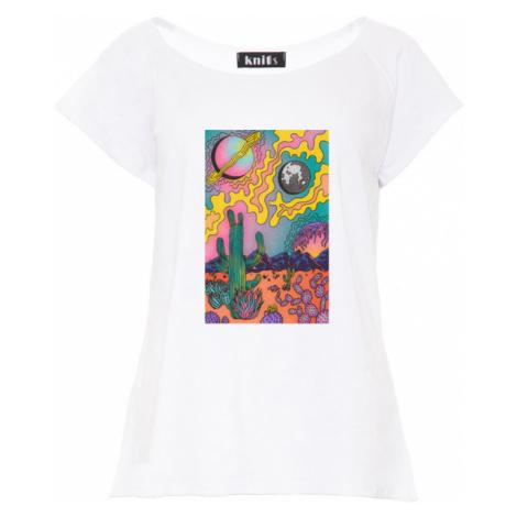 Dámské tričko s barevným vesmírným potiskem K510