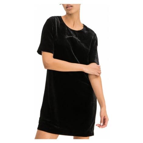 Černé sametové šaty - ARMANI EXCHANGE