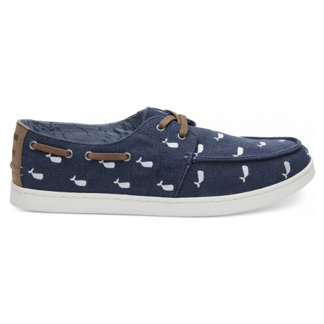 NVY WHLE EMBROIDERY MN CLVR CASLP Toms