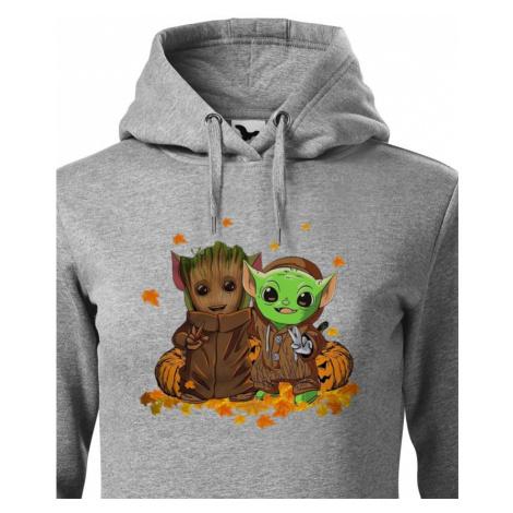 Dámská mikina Mistr Yoda a Groot - ideální pro každú fanynku BezvaTriko
