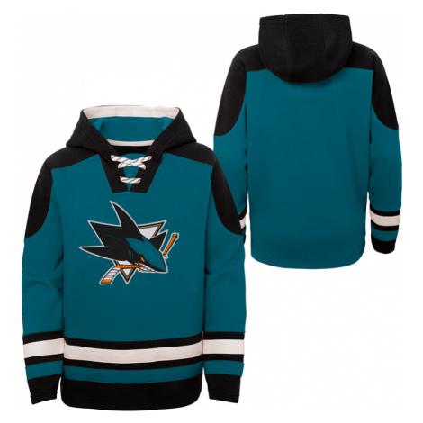 Dětská hokejová mikina s kapucí Outerstuff Ageless must have NHL San Jose Sharks