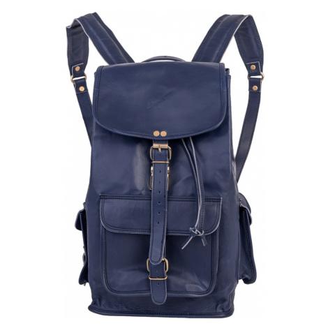 Bagind Headley Atmos - Dámský i pánský kožený batoh modrý, ruční výroba, český design