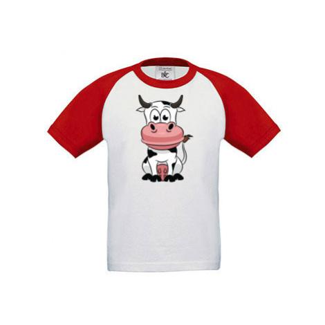 Dětské tričko baseball Kravička