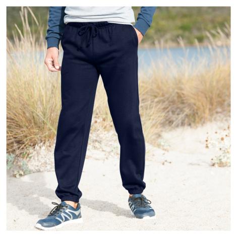 Blancheporte Meltonové kalhoty, pružný spodní lem nám.modrá