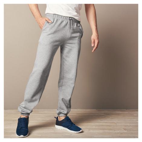 Blancheporte Meltonové kalhoty, pružný spodní lem šedý melír