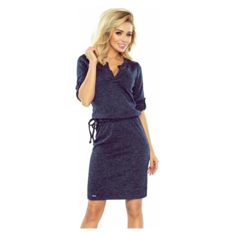 Dámské šaty Numoco 161-8   tmavě modrá