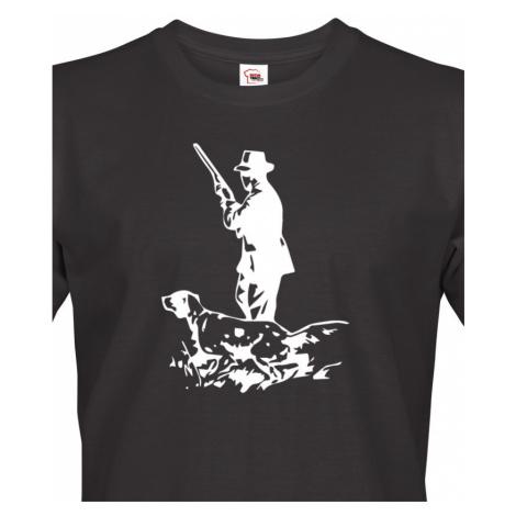 Tričko pro myslivce s německým ohařem - skvělý dárek k narozeninám BezvaTriko
