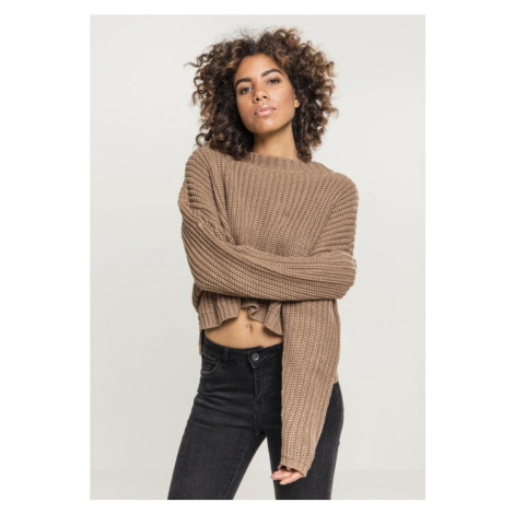 Ladies Wide Oversize Sweater - taupe Urban Classics