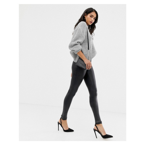 Spanx faux leather high waist sculpting leggings-Black