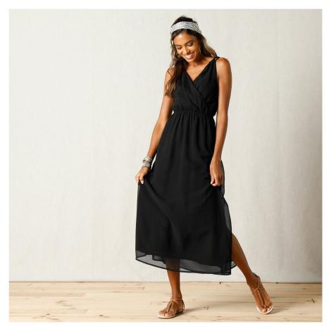 Blancheporte Dlouhé šaty z voálu černá
