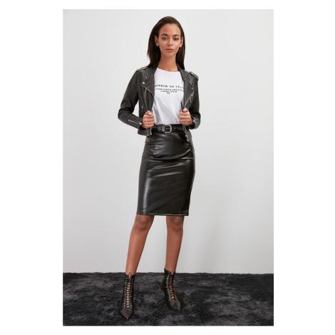 Women's skirt Trendyol Leather