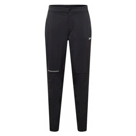 Reebok Sport Sportovní kalhoty černá / bílá
