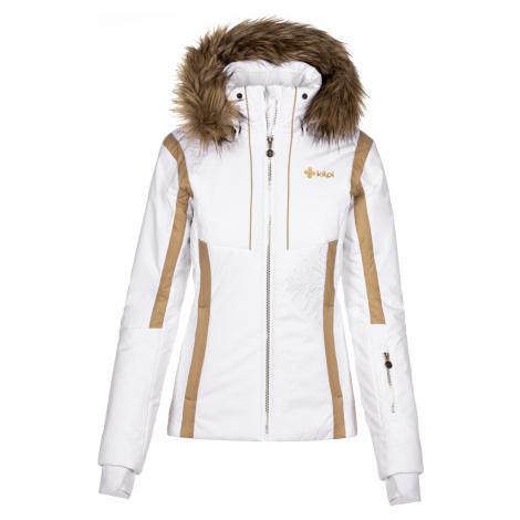 KILPI Dámská vyhřívaná lyžařská bunda MIRSEL-W NL0023KIWHT Bílá