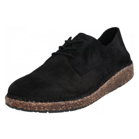 BIRKENSTOCK Šněrovací boty černá