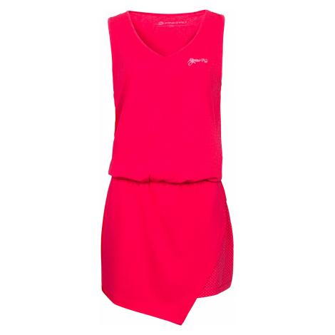 Dámské šaty Alpine Pro YAVARA 2 - růžovo-červená