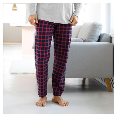 Blancheporte Pyžamové kalhoty s kostkovaným vzorem nám.modrá/červená