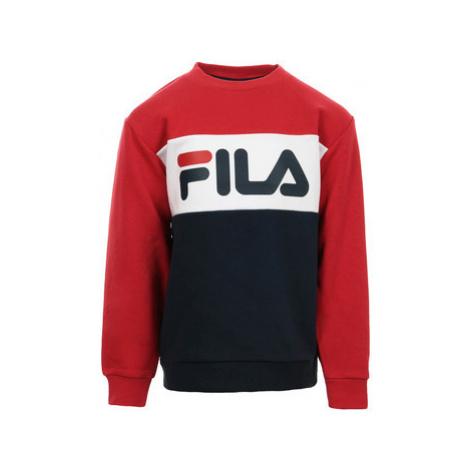 Fila Kids Night Blocked Crew Sweat Modrá