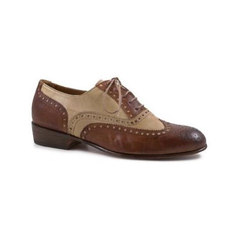 Leonardo Shoes PINA 037 CUOIO/INCENSO Hnědá