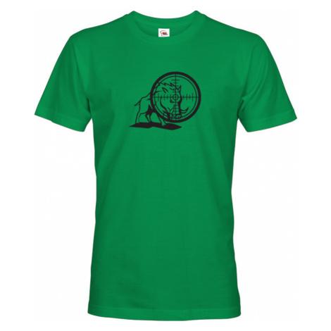 Myslivecké tričko divočák s originálním potiskem - dárek pro myslivce BezvaTriko
