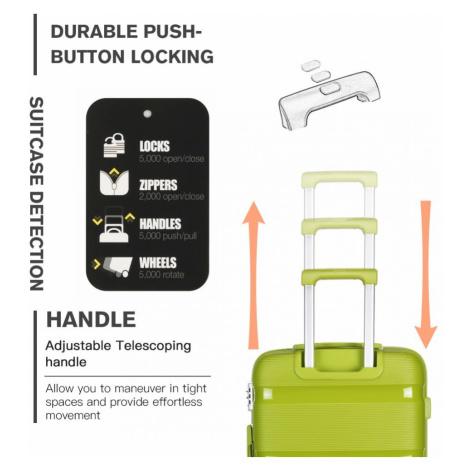 Zelený cestovní kvalitní malý kufr Rylee Lulu Bags