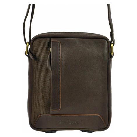 Pánská kožená taška přes rameno Pierre Cardin 40120 YS12 hnědá
