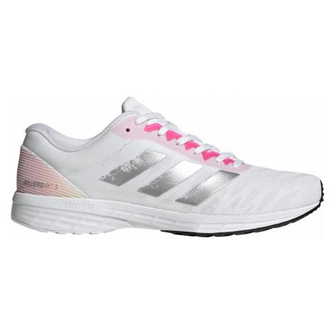 Dámská běžecká obuv adidas Adizero Race 3 Bílá / Růžová