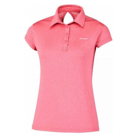 Columbia PEAK TO POINT NOVELTY POLO růžová - Dámské polo triko